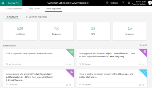 Automatic sentiment identification from posted surveys