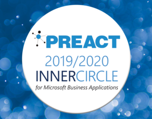 Preact named in 2019/2020 Inner Circle for Microsoft Business Applications