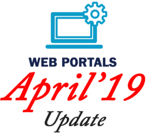 April 2019 Update - Web Portals
