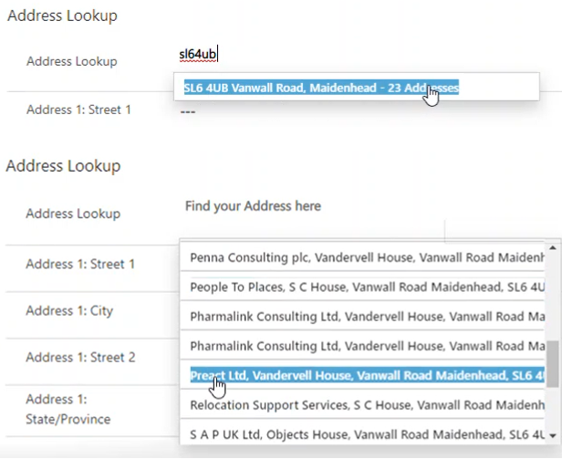 Loqate Address Lookup for Dynamics 365