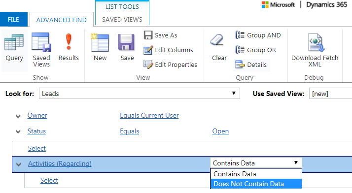 New Query Rule for Related Entities in Dynamics 365 Advanced