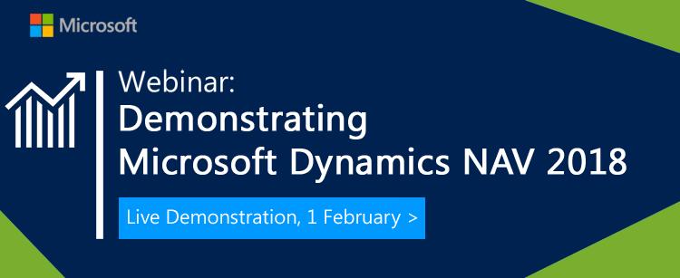 Demonstrating Microsoft Dynamics NAV 2018