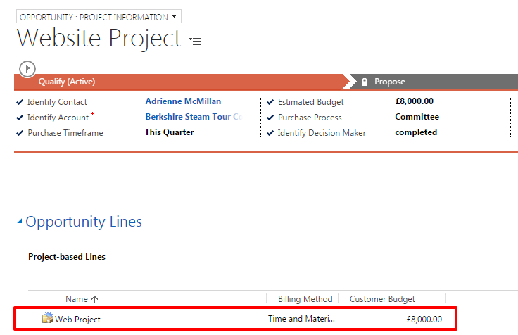 How to Create Quotes using Dynamics CRM Project Service – Project Quote