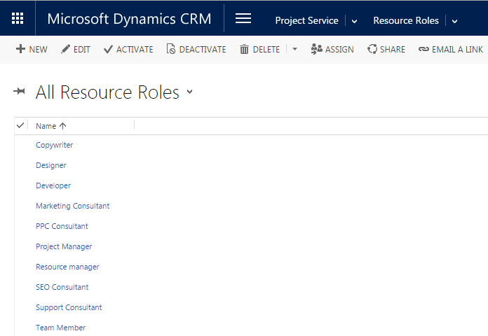 Using Crm Project Service To Manage Resources Roles Skills