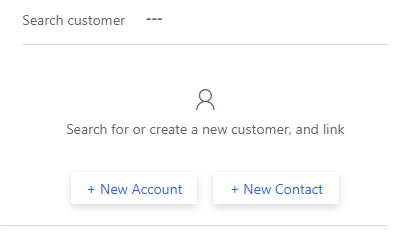 Search customer or create record