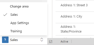 Switch to other Dynamics 365 areas / hubs